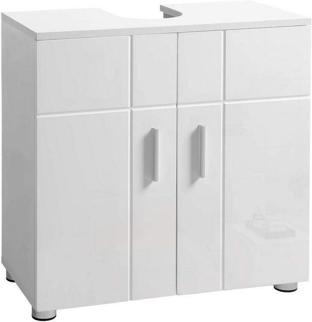 Badschränke - VASAGLE Waschbeckenunterschrank »BBK02WT« Waschbeckenunterschrank, Badezimmerschrank, Unterschrank, weiß  - Onlineshop OTTO