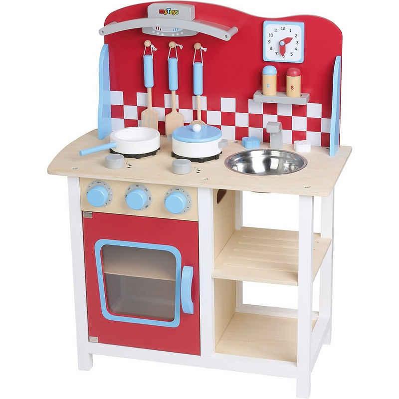 myToys Spielküche »Holzspielküche mit Zubehör«