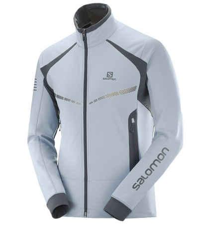 Salomon Softshelljacke »Salomon RS Warm Softshell Jacke hochwertige Herren Langlauf-Jacke mit Stehkragen Sport-Jacke Blau«