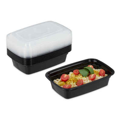 relaxdays Lunchbox »10er Set Meal Prep Boxen 1 Fach«, PP, (10er Set)