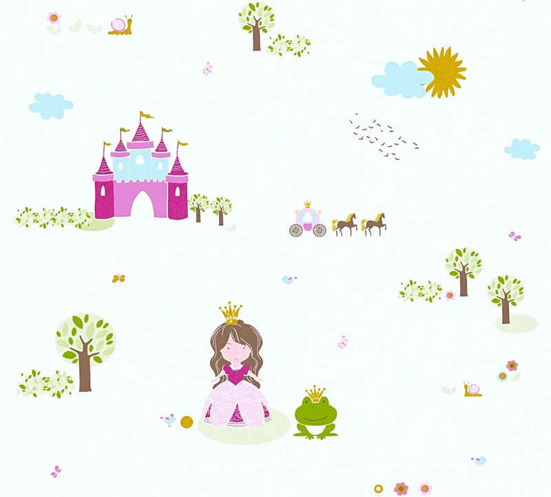 living walls Vliestapete »Little Stars«, glatt, Kinderzimmertapete Prinzessin für Mädchen, PVC-frei