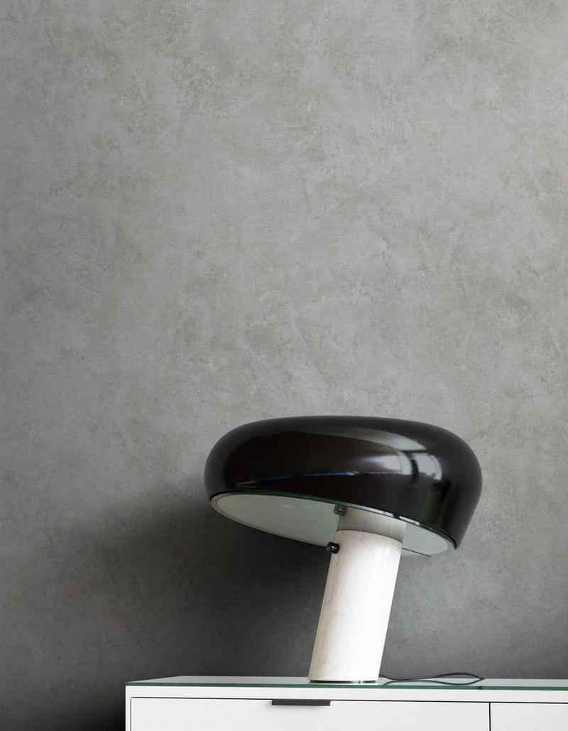 Newroom Vliestapete, Grau Tapete Modern Beton - Putzoptik Dunkelgrau Betonoptik Uni Einfarbig Industrial Bauhaus für Wohnzimmer Schlafzimmer Küche