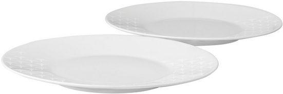 Joop! Brotteller »JOOP! FADED CORNFLOWER«, (2 Stück), hochwertiges Porzellan mit Kornblumen-Verlauf als Dekor, Ø 19 cm