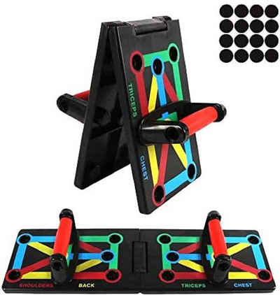 BIGTREE Liegestützgriffe »Faltbare 12-in-1 Push Up Rack Board System mit Handgriff Multifunktionales Muskeltraining System für Home Fitness Workout«