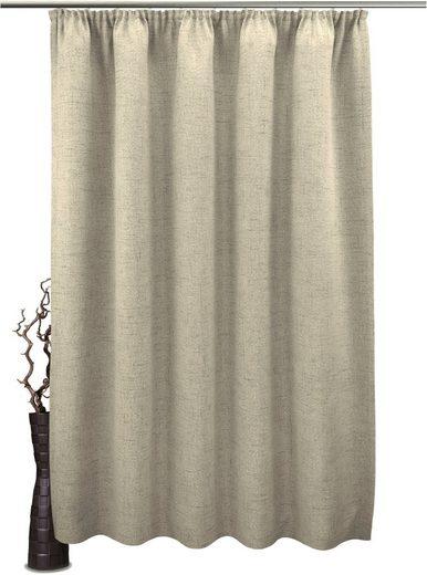 Vorhang nach Maß »Rustika«, VHG, Kräuselband (1 Stück), Vorhang Wunschmaß,Struktur, Breite: 145 cm