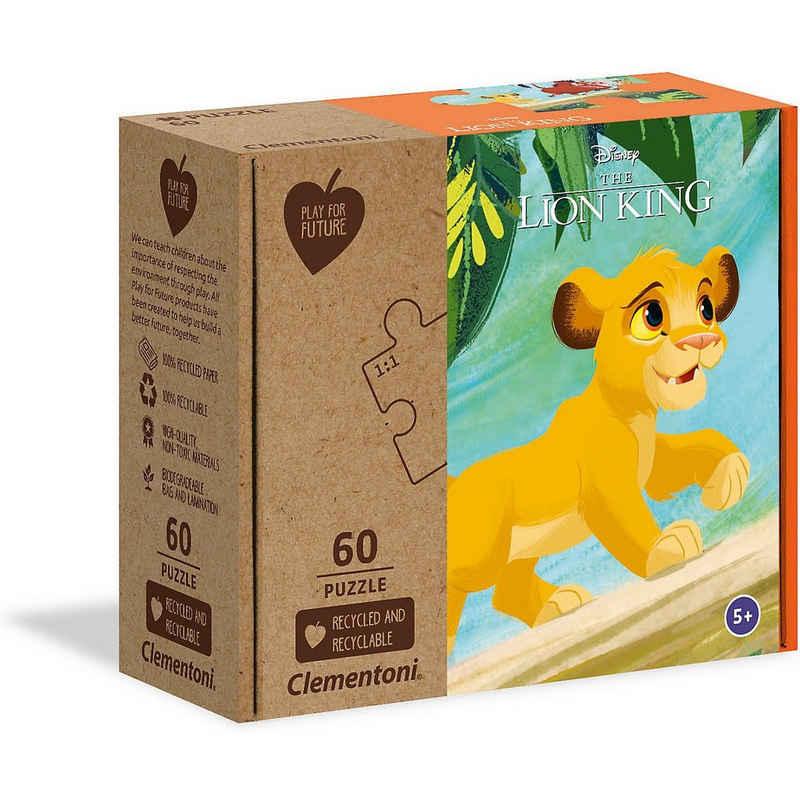 Clementoni® Puzzle »Puzzle 60 Teile Play for Future - Disney König«, Puzzleteile