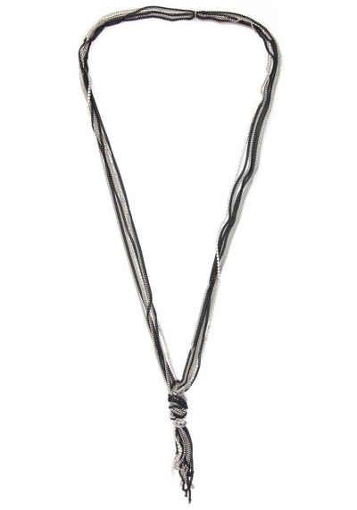 J.Jayz Lange Kette »mehrreihig, schwarz, stylisch«, mit Glassteinen