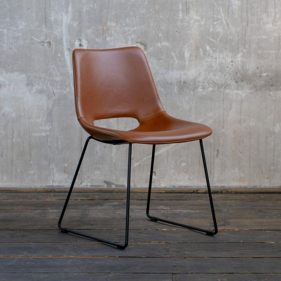 KAWOLA Esszimmerstuhl »ASCO« Stuhl Gestell Metall schwarz versch. Farben online kaufen   OTTO