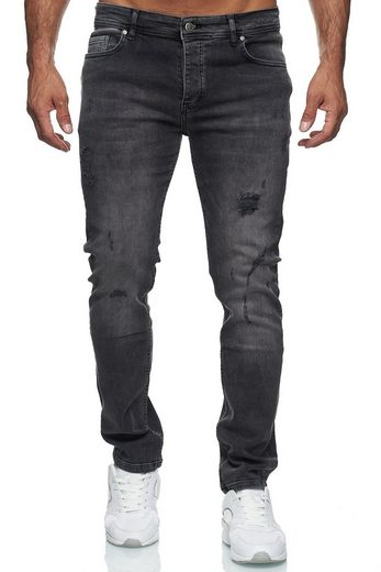 Reslad Destroyed-Jeans »Reslad Jeans Herren Destroyed Look Slim Fit Denim« Destroyed Look Slim Fit Jeans