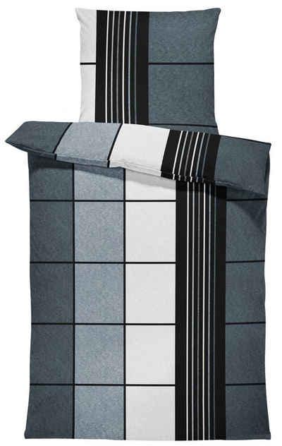 Bettwäsche »Alex«, One Home, kariert modern, flauschig warmes Thermofleece 2 Teilig