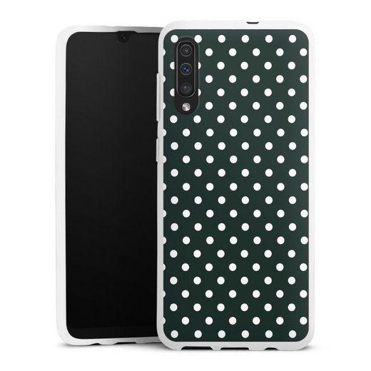 DeinDesign Handyhülle »Polka Dots - schwarz und weiß« Samsung Galaxy A30s, Hülle Punkte Retro Polka Dots
