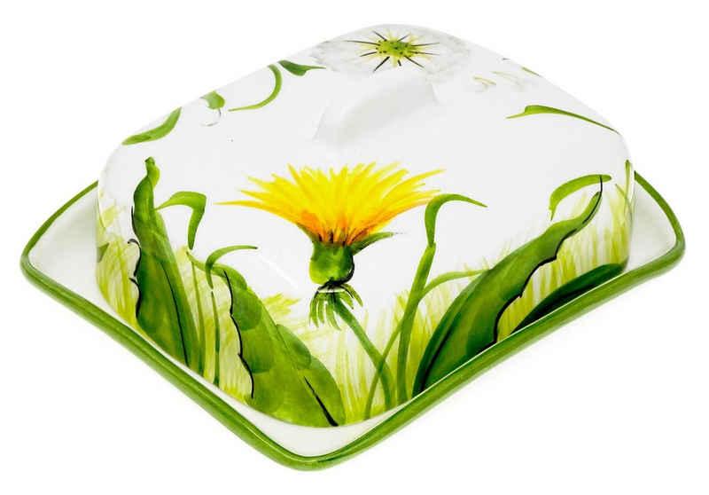 Lashuma Butterdose »Pusteblume«, Keramik, Keramik Buttergefäß 18x14 cm, Butterbox handgemacht