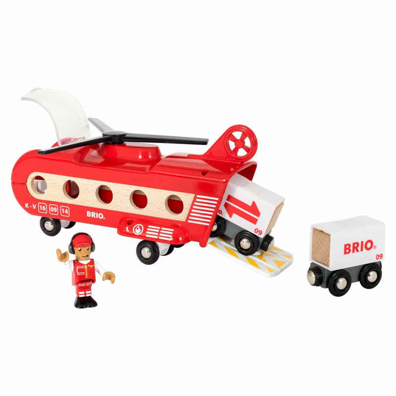 BRIO® Spielzeug-Hubschrauber »Eisenbahn-Transport 8-tlg.«
