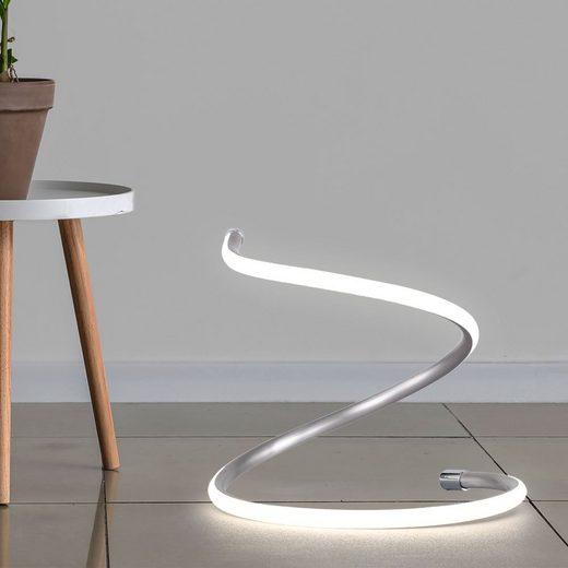 WOFI LED Tischleuchte, LED Nacht Schreib Tisch Leuchte Schlaf Zimmer Beleuchtung Spiral-Design Beistell Lampe Wofi 8331.01.64.6000