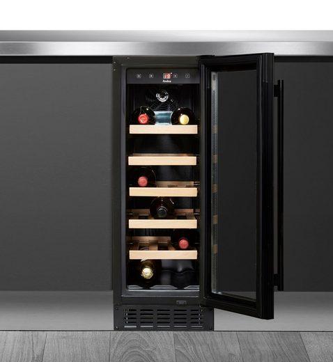 Amica Einbauweinkühlschrank WK 341 115 S, für 20 Standardflaschen á 0,75l