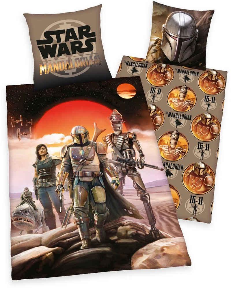 Wendebettwäsche »Star Wars - The Madalorian«, Star Wars, mit tollem Star Wars-Motiv