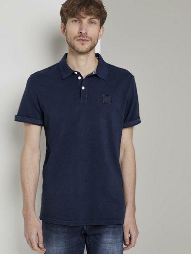 TOM TAILOR Poloshirt »Poloshirt mit Logo-Patch«