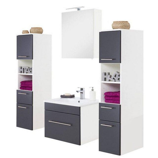 Badezimmer Sets - Lomadox Badmöbel Set »LAGOS 02«, (Spar Set, 4 tlg)  - Onlineshop OTTO