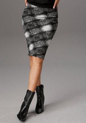 Aniston SELECTED Jerseyrock in eleganter Musterung