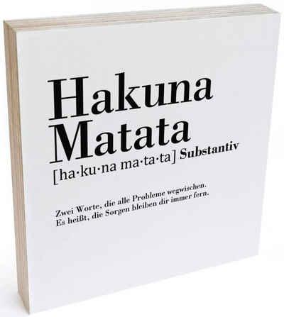 Wall-Art Holzbild »Tischdeko Hakuna Matata«, (1 Stück)