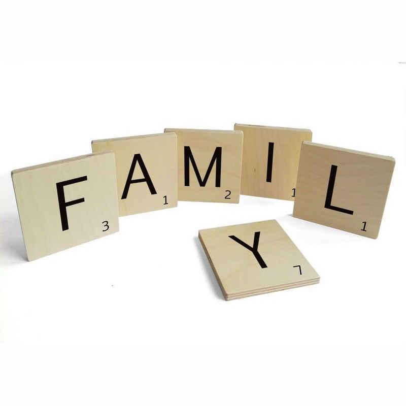 Wall-Art Wandspruch »Scrabble Deko Buchstaben Family« (Set, 6 Stück)