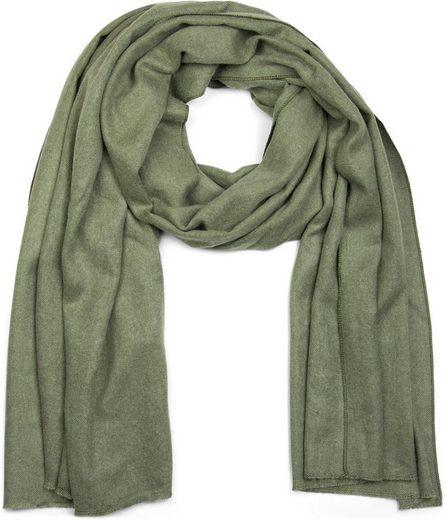 styleBREAKER Schal »Unifarbener Schal mit Fransen« Unifarbener Schal mit Fransen