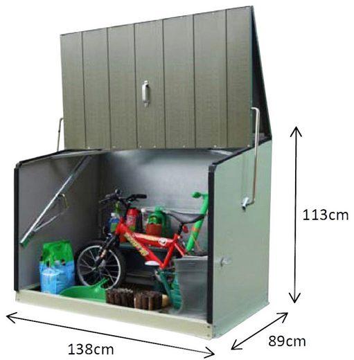 TRIMETALS Fahrrad-/Mülltonnenunterstand »Stowaway«, für 2x240 l, Stahl, BxTxH: 138x89x113 cm