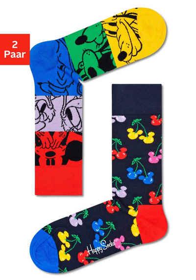 Happy Socks Socken »Mickey & Friends« (2-Paar) mit fröhlichen Retrostyle Motiven