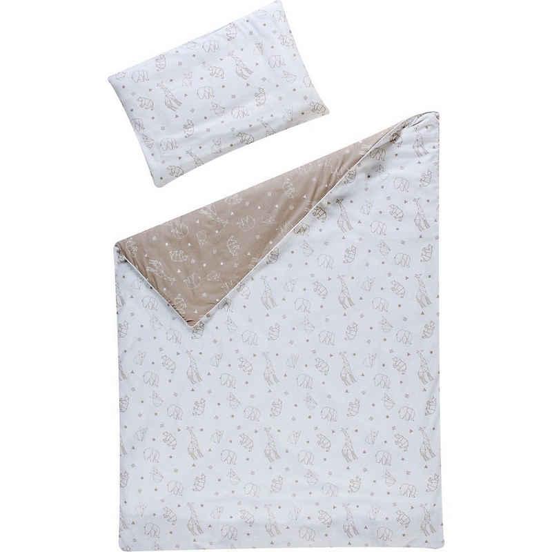 Bettwäsche »Bettwäsche Origami, Baumwolle, beige, 100 x 135 cm«, Schardt