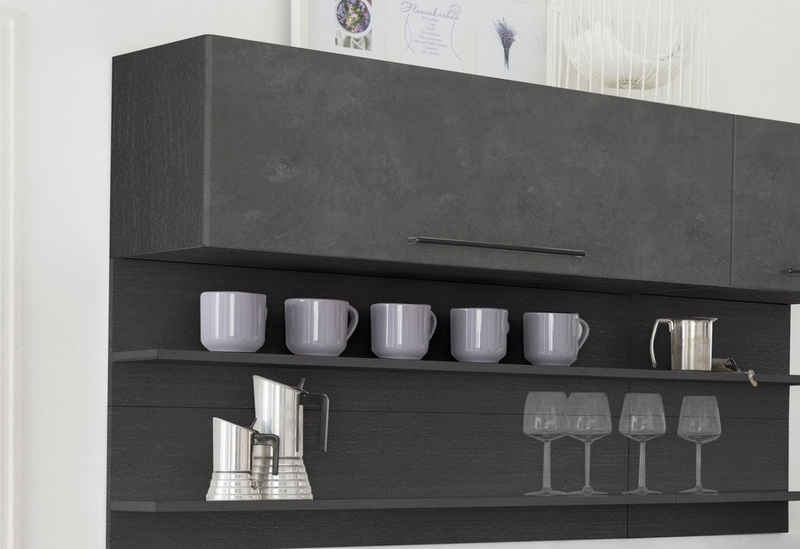HELD MÖBEL Klapphängeschrank »Tulsa« 110 cm breit, mit 1 Klappe, schwarzer Metallgriff, hochwertige MDF Front