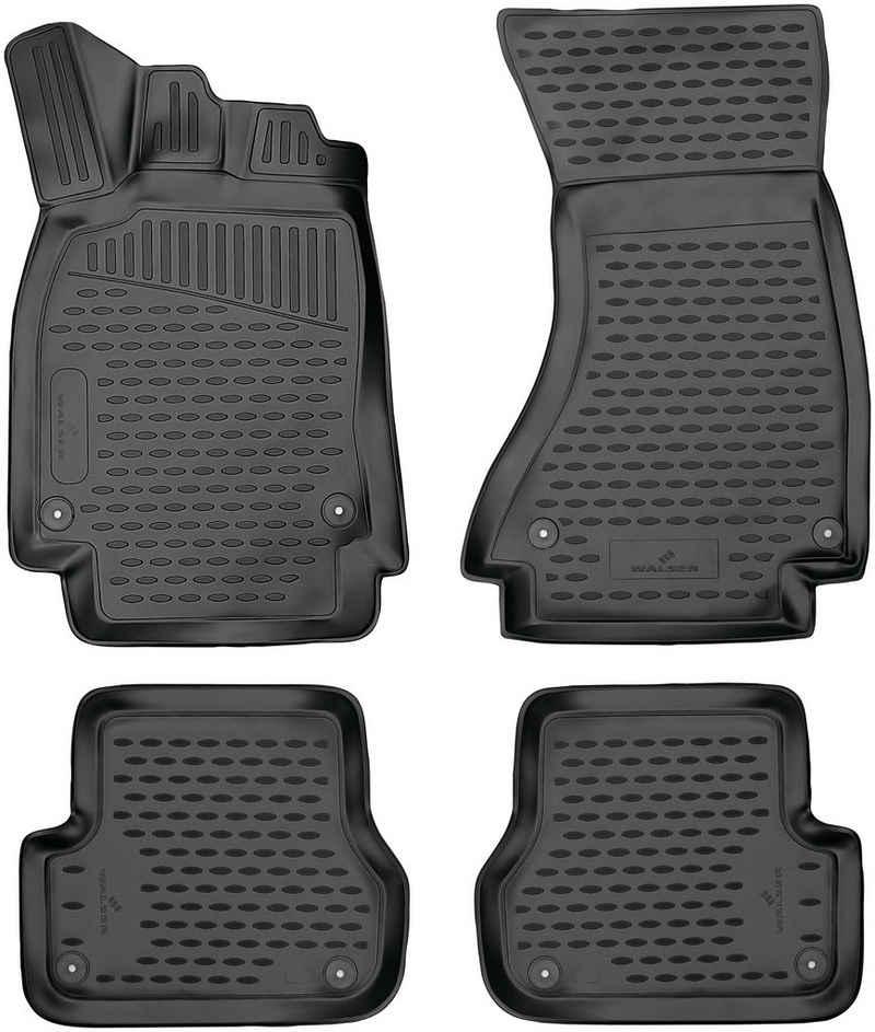 WALSER Passform-Fußmatten »XTR« (4 Stück), Audi A6 Kombi, für Audi A6 (C7) BJ 2011 - 09/2018