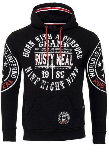 Rusty Neal Kapuzensweatshirt mit angenehmer Passform