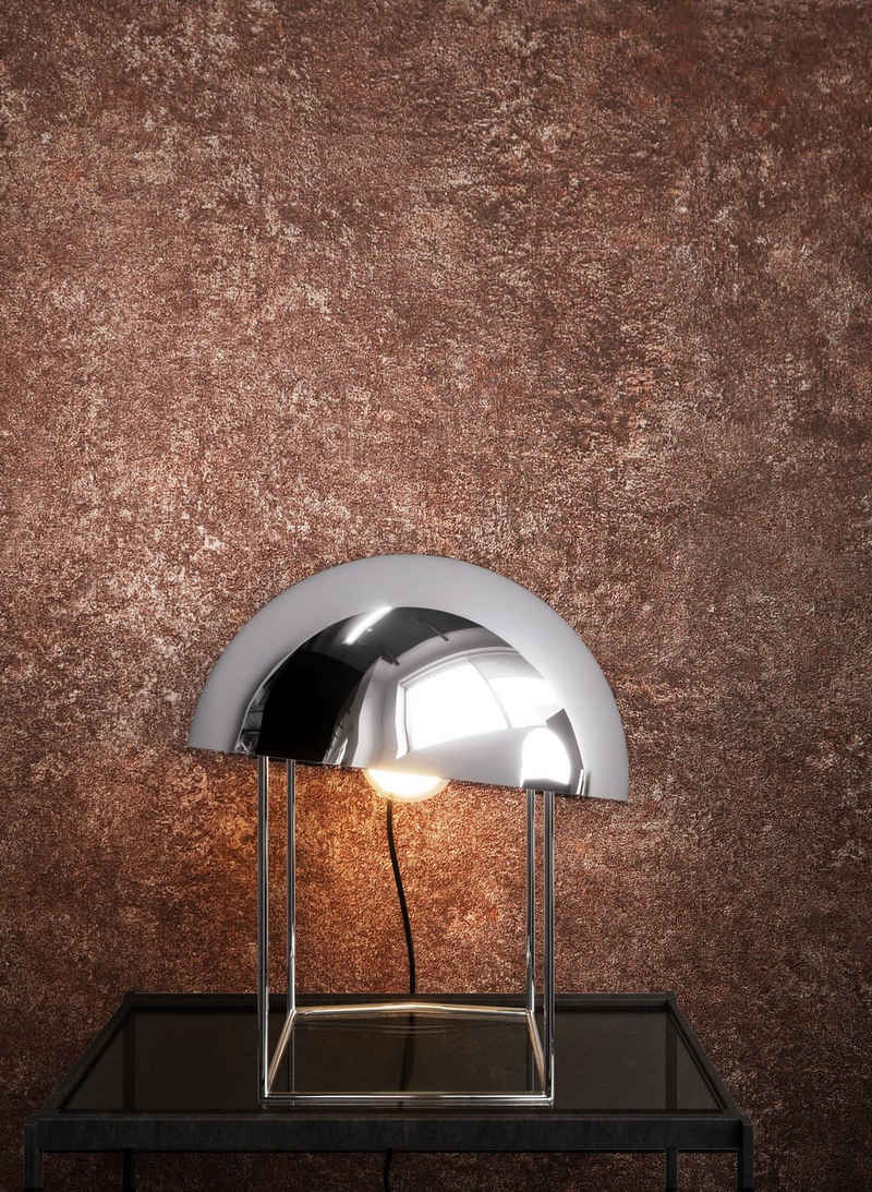 Newroom Vliestapete, Braun Tapete Uni Beton - Putz Grau Betontapete Betonoptik Putzoptik Modern Industrial für Wohnzimmer Schlafzimmer Küche