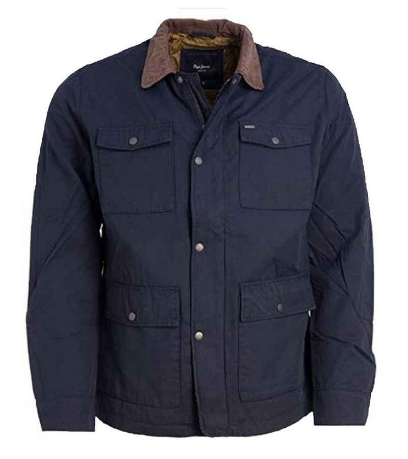 Pepe Jeans Outdoorjacke »Pepe Jeans Fort Übergangs-Jacke stylische Herren Herbst-Jacke Ausgeh-Jacke Blau«