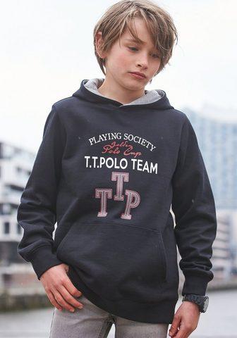 TOM TAILOR Polo Team Sportinis megztinis su gobtuvu »GOLDEN...