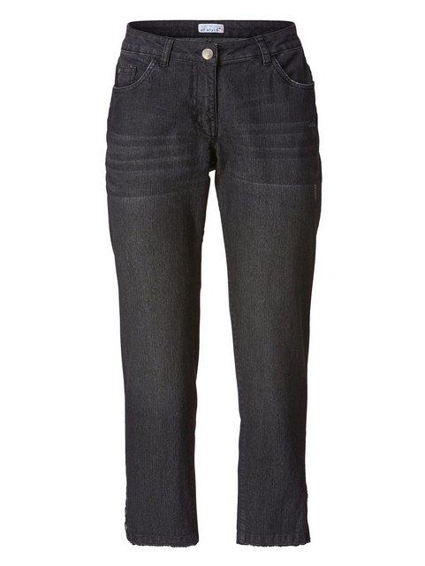 Hosen - Angel of Style by HAPPYsize Jeans mit offenen Kanten › schwarz  - Onlineshop OTTO
