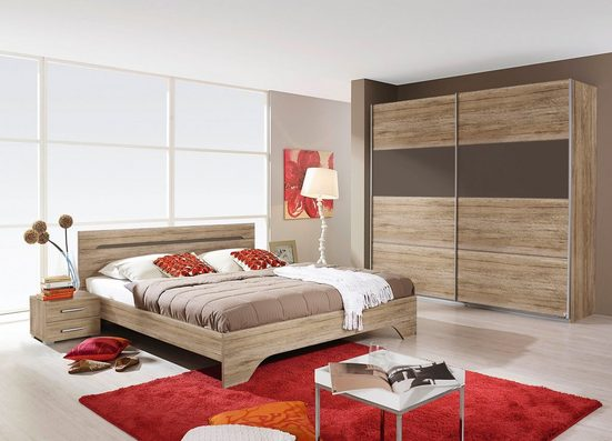 rauch BLUE Schlafzimmer-Set »Rubi«, (Set, 4-St), mit Schrank, Bett 180x200 cm und 2 Nachttischen
