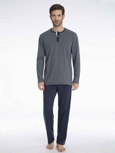 Pyjama »Pyjama mit Knopfleiste«