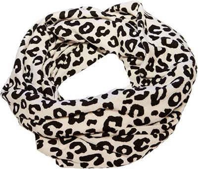 AvaMia Schal »Loop Schlauchschal Schal Damenschal Pashminal Leopard Look weiss mit schwarzen Punkten 26 cm x 75 cm« 26 cm x 75 cm