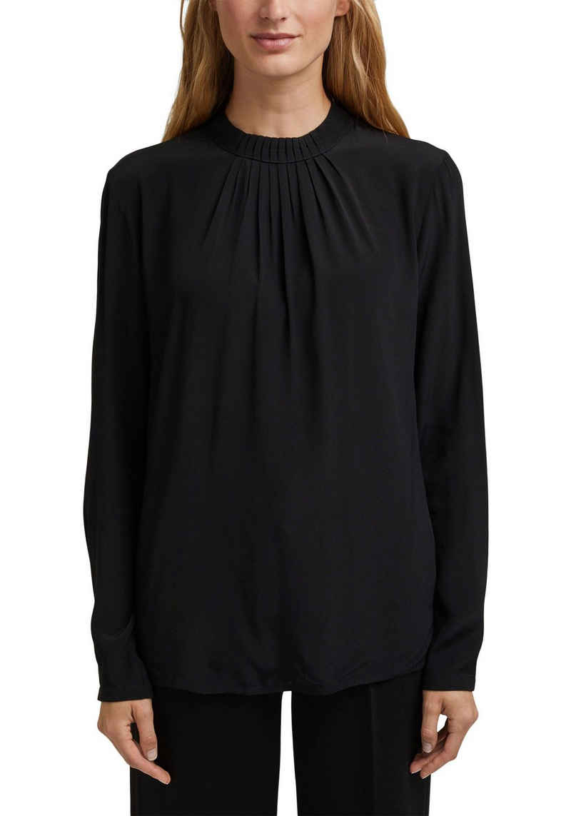 Esprit Collection Hemdbluse mit spielerischem Nackenverschluss