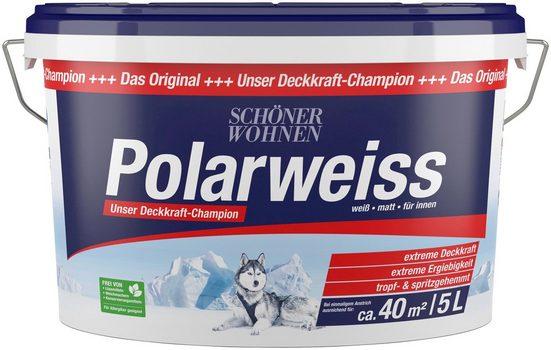 SCHÖNER WOHNEN FARBE Innenfarbe »Polarweiss«, 5 l