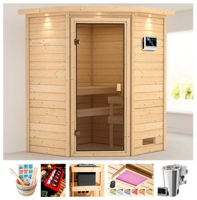 Saunen und Zubehör - KARIBU Sauna »Rügen 1«, 173x159x191 cm, 3,6 kW Plug Play Bio Ofen Strg., Dachkranz  - Onlineshop OTTO