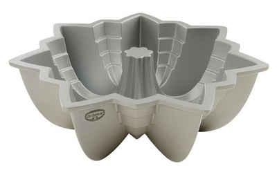 Dr. Oetker Gugelhupfform »Back Kunst«, Backform für Gugelhupf Ø 23 cm, Bundform mit Antihaftbeschichtung für eindrucksvolle Kreationen, hochwertige Kuchenform (Farbe: Creme-Metallic)