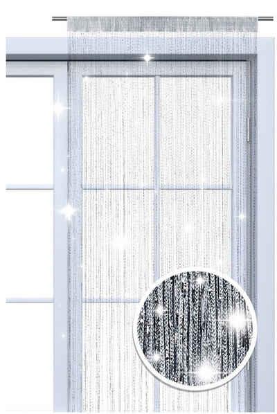 Fadenvorhang »Lurex«, wometo, Stangendurchzug (1 Stück), Fadengardine mit GLITZER-Effekt, kürzbar