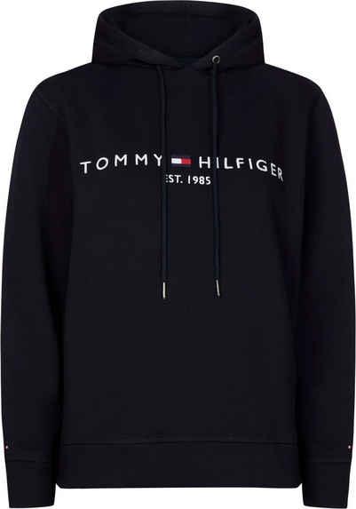 Tommy Hilfiger Curve Kapuzensweatshirt »RV TH ESS HILFIGER HOODIE LS« mit gesticktem Tommy Hilfiger Linear Logo-Schriftzug
