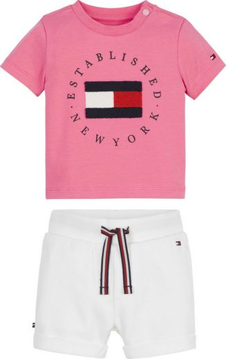 TOMMY HILFIGER Shirt & Shorts (Set, 2-tlg) mit Applikation