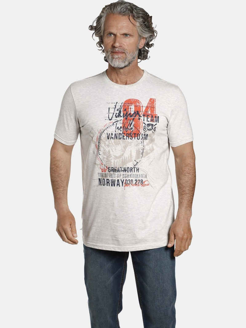 Jan Vanderstorm T-Shirt »YORICK« aus weicher Baumwoll-Mischung