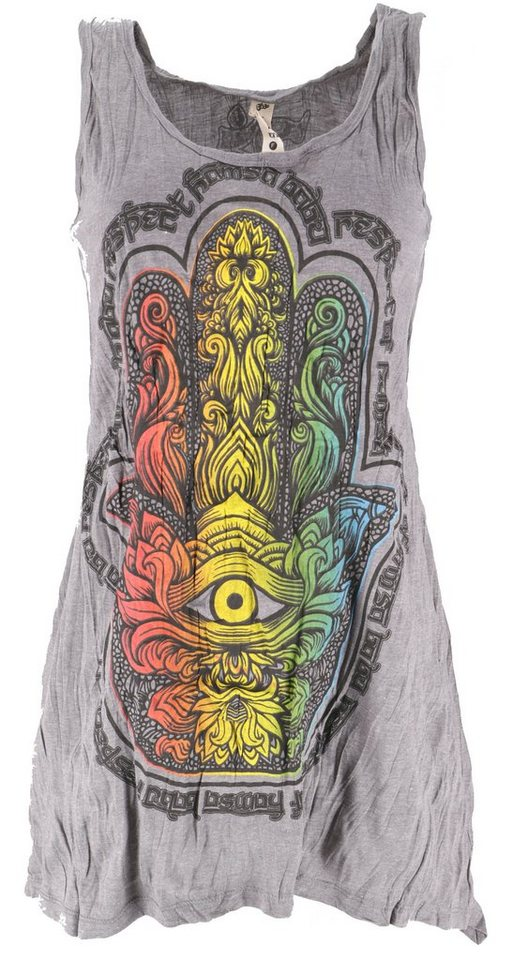 Guru-Shop T-Shirt »Baba Longshirt, Psytrance Minikleid ...
