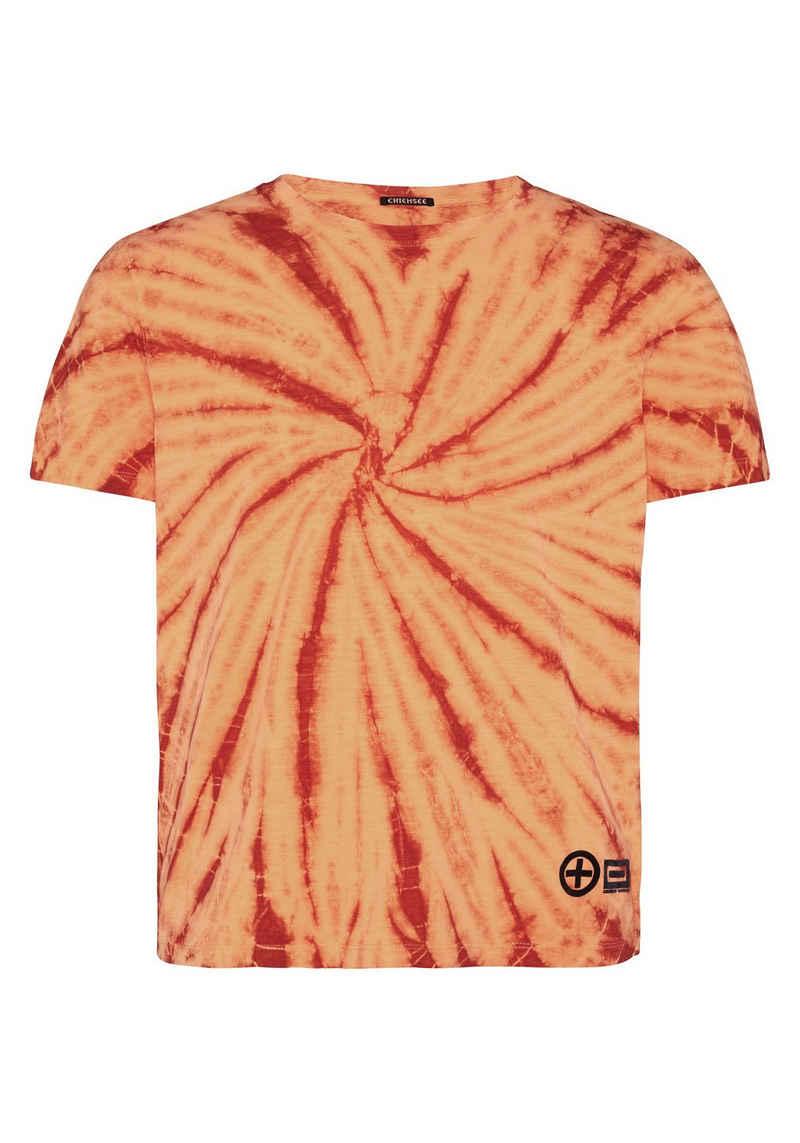 Chiemsee T-Shirt »in Batik-Optik mit Rückenprint« (1-tlg)