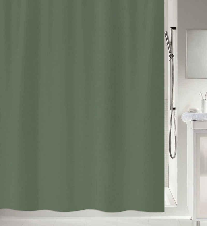 spirella Duschvorhang »PRIMO« Breite 120 cm, Anti-Schimmel Textil-Duschvorhang, Polyester, 120x200 cm, waschbar